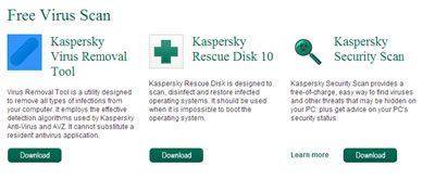 Kaspersky Online Scanner - Ducktoes Blog