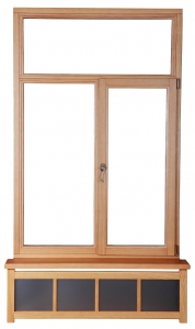 New wooden frame window symbolizing Windows Updates