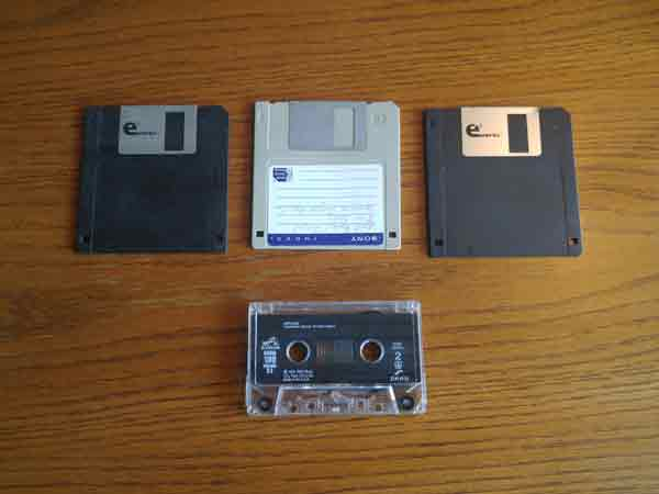 Floppy disks and cassette tapes are outdated.