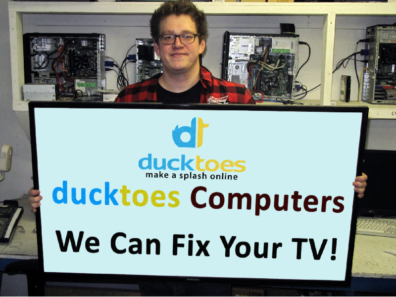 At Ducktoes Computer Services in Calgary, we can also fix your electronics